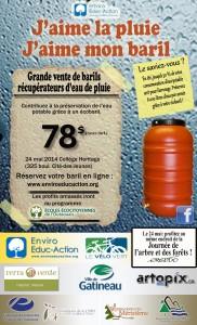 Affiche de la Campagne de distributions de barils récupérateurs d'eau de pluie